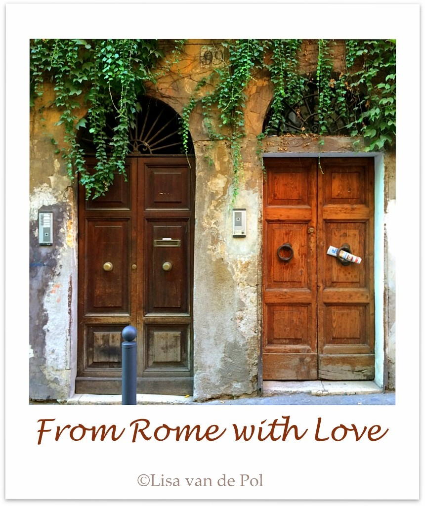 Doors in Rome, Monti. Photo by Lisa van de Pol. Apartment for rent in Rome, Casa Cuore di Roma